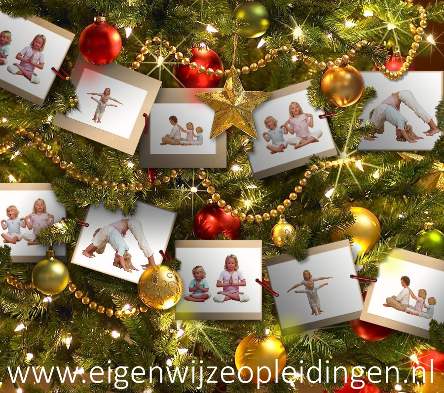 Kerstboom foto collage kinderyoga